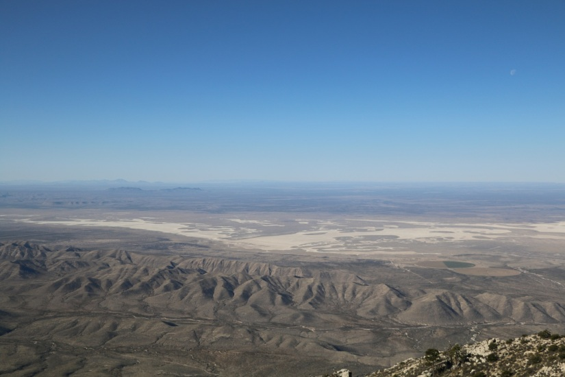 We peaked early.  Guadalupe Peak and the Salt Basin Dunes.